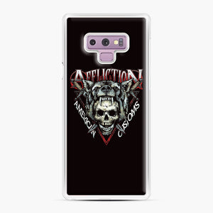 affliction American Custom Samsung Galaxy Note 9 Case, White Plastic Case | Webluence.com