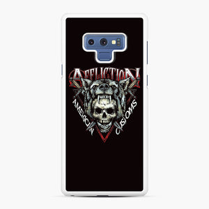 affliction American Custom Samsung Galaxy Note 9 Case, White Rubber Case | Webluence.com