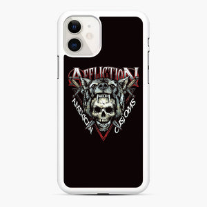 affliction American Custom iPhone 11 Case, White Rubber Case | Webluence.com