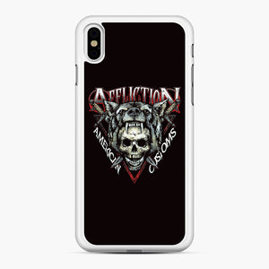 affliction American Custom iPhone XS Max Case, White Rubber Case | Webluence.com
