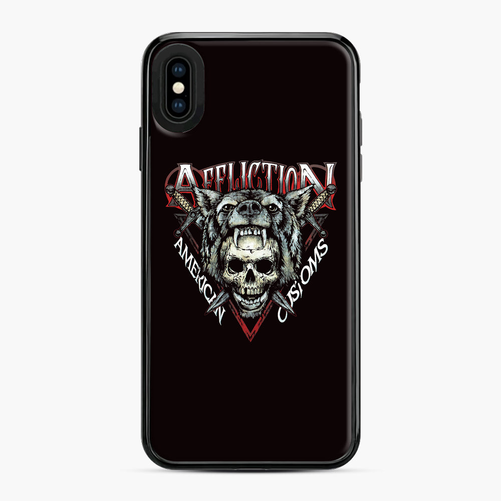 affliction American Custom iPhone XS Max Case, Black Plastic Case | Webluence.com