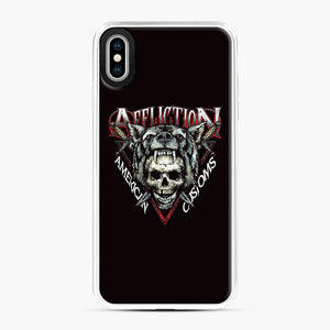 affliction American Custom iPhone XS Max Case, White Plastic Case | Webluence.com
