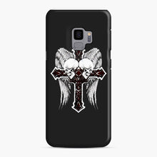 Load image into Gallery viewer, affliction cross and skulls Samsung Galaxy S9 Case, Snap Case | Webluence.com