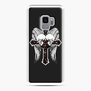 affliction cross and skulls Samsung Galaxy S9 Case, White Plastic Case | Webluence.com