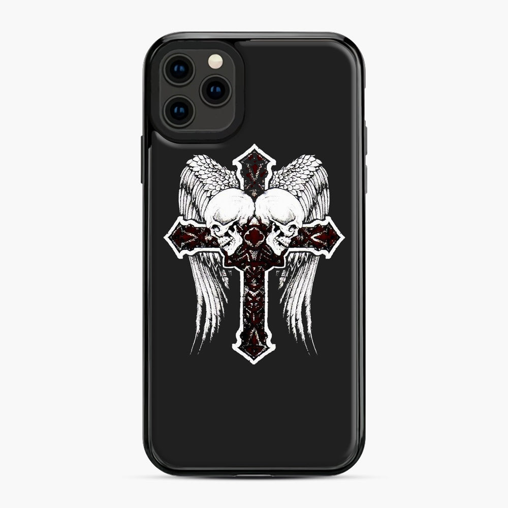 affliction cross and skulls iPhone 11 Pro Max Case, Black Plastic Case | Webluence.com
