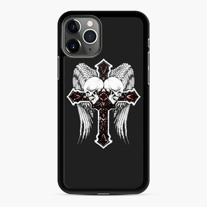 affliction cross and skulls iPhone 11 Pro Max Case, Black Rubber Case | Webluence.com