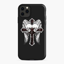 Load image into Gallery viewer, affliction cross and skulls iPhone 11 Pro Max Case, Snap Case | Webluence.com
