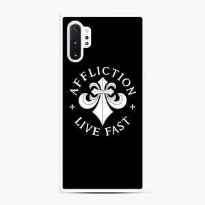 affliction live fast Samsung Galaxy Note 10 Plus Case, White Rubber Case | Webluence.com