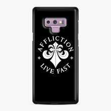 Load image into Gallery viewer, affliction live fast Samsung Galaxy Note 9 Case, Black Plastic Case | Webluence.com