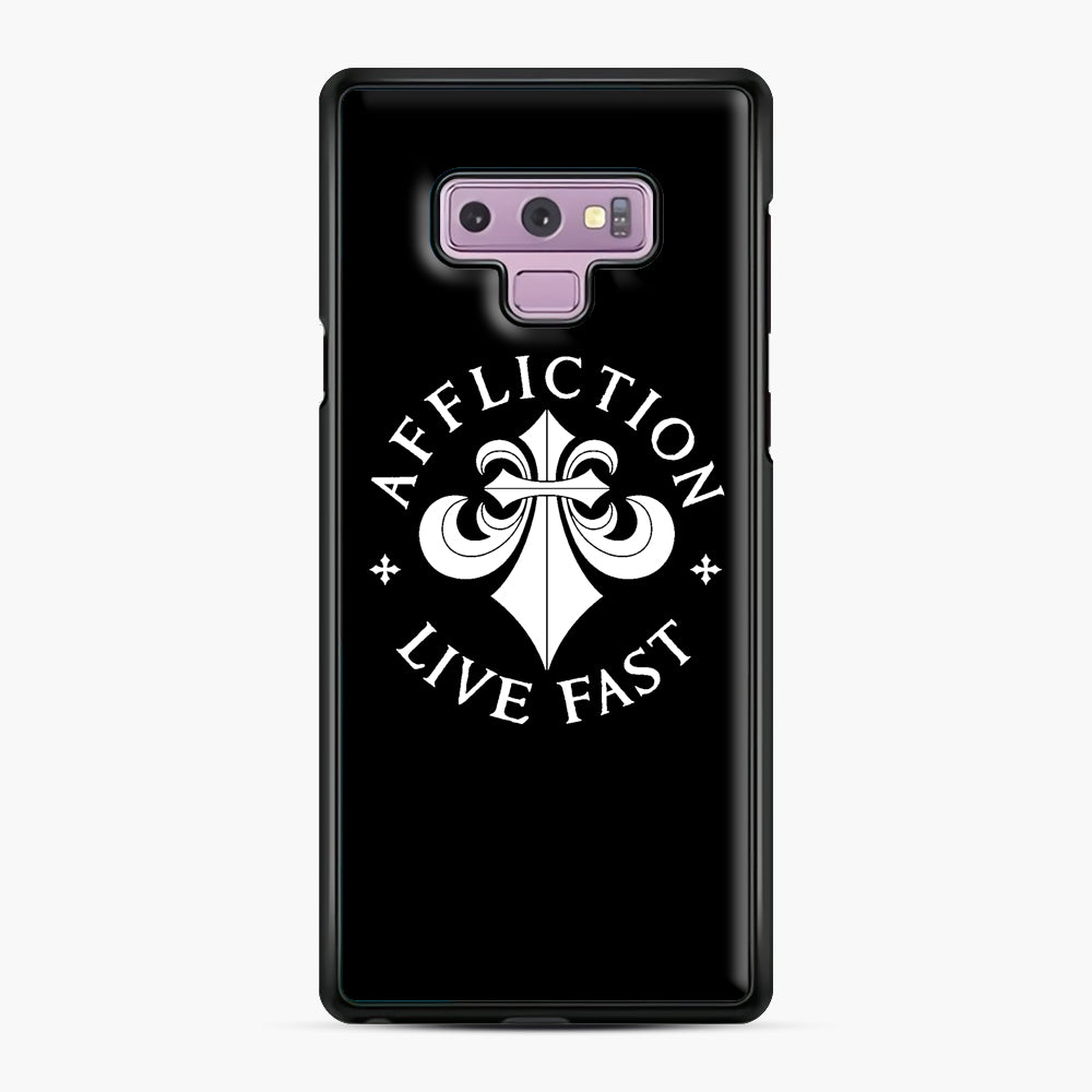 affliction live fast Samsung Galaxy Note 9 Case, Black Plastic Case | Webluence.com