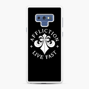 affliction live fast Samsung Galaxy Note 9 Case, White Rubber Case | Webluence.com