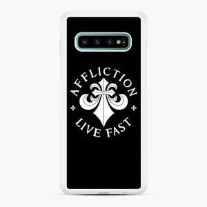 affliction live fast Samsung Galaxy S10 Plus Case, White Rubber Case | Webluence.com