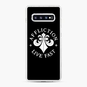 affliction live fast Samsung Galaxy S10 Plus Case, White Plastic Case | Webluence.com