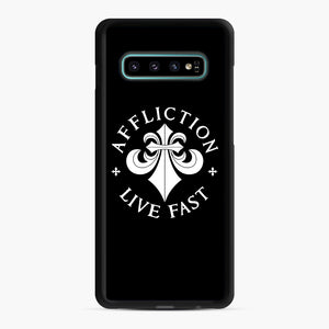 affliction live fast Samsung Galaxy S10 Plus Case, Black Rubber Case | Webluence.com