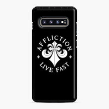 Load image into Gallery viewer, affliction live fast Samsung Galaxy S10 Plus Case, Black Plastic Case | Webluence.com
