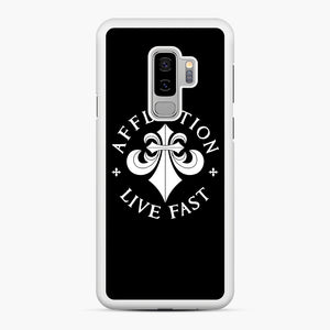 affliction live fast Samsung Galaxy S9 Plus Case, White Rubber Case | Webluence.com