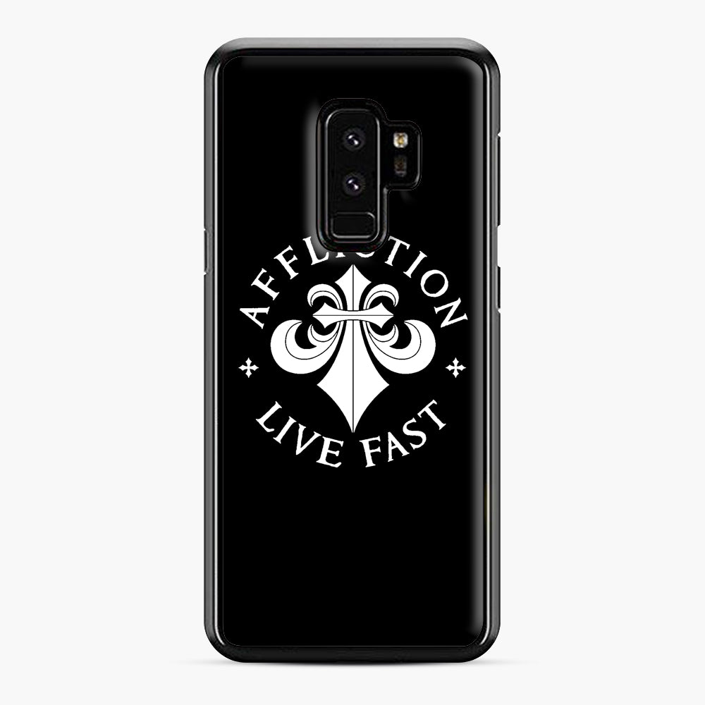 affliction live fast Samsung Galaxy S9 Plus Case, Black Plastic Case | Webluence.com