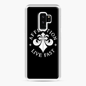 affliction live fast Samsung Galaxy S9 Plus Case, White Plastic Case | Webluence.com