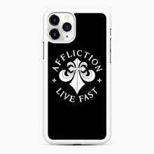 Load image into Gallery viewer, affliction live fast iPhone 11 Pro Case, White Rubber Case | Webluence.com