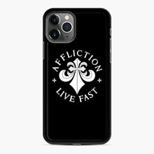 Load image into Gallery viewer, affliction live fast iPhone 11 Pro Case, Black Rubber Case | Webluence.com