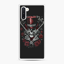Load image into Gallery viewer, affliction skulls Samsung Galaxy Note 10 Case, White Rubber Case | Webluence.com