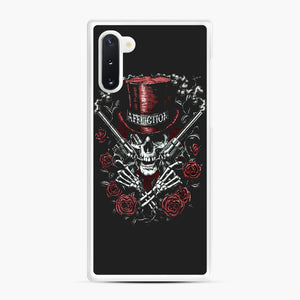affliction skulls Samsung Galaxy Note 10 Case, White Rubber Case | Webluence.com