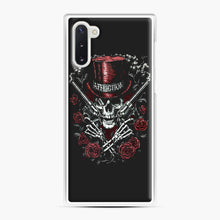 Load image into Gallery viewer, affliction skulls Samsung Galaxy Note 10 Case, White Plastic Case | Webluence.com