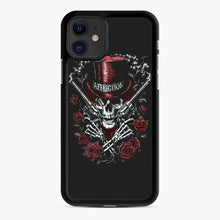 Load image into Gallery viewer, affliction skulls iPhone 11 Case, Black Rubber Case | Webluence.com