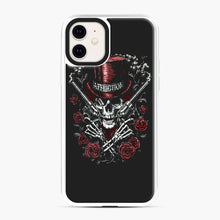 Load image into Gallery viewer, affliction skulls iPhone 11 Case, White Plastic Case | Webluence.com