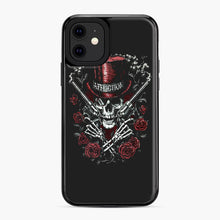 Load image into Gallery viewer, affliction skulls iPhone 11 Case, Black Plastic Case | Webluence.com