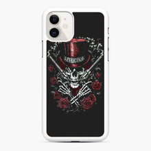 Load image into Gallery viewer, affliction skulls iPhone 11 Case, White Rubber Case | Webluence.com