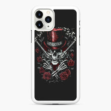 Load image into Gallery viewer, affliction skulls iPhone 11 Pro Max Case, White Rubber Case | Webluence.com