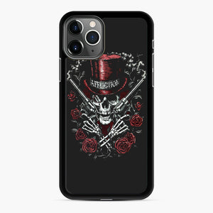affliction skulls iPhone 11 Pro Max Case, Black Rubber Case | Webluence.com