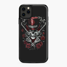 Load image into Gallery viewer, affliction skulls iPhone 11 Pro Max Case, Black Plastic Case | Webluence.com