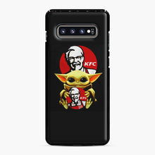 Load image into Gallery viewer, baby yoda hug kfc Samsung Galaxy S10 Plus Case, Black Plastic Case | Webluence.com