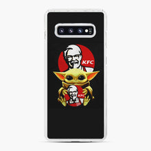 Load image into Gallery viewer, baby yoda hug kfc Samsung Galaxy S10 Plus Case, White Plastic Case | Webluence.com
