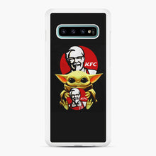 Load image into Gallery viewer, baby yoda hug kfc Samsung Galaxy S10 Plus Case, White Rubber Case | Webluence.com