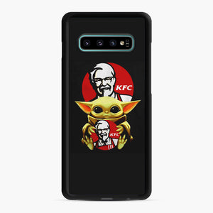 baby yoda hug kfc Samsung Galaxy S10 Plus Case, Black Rubber Case | Webluence.com