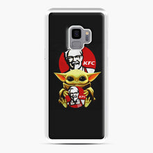 Load image into Gallery viewer, baby yoda hug kfc Samsung Galaxy S9 Case, White Plastic Case | Webluence.com