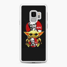 Load image into Gallery viewer, baby yoda hug kfc Samsung Galaxy S9 Case, White Rubber Case | Webluence.com
