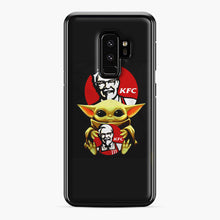 Load image into Gallery viewer, baby yoda hug kfc Samsung Galaxy S9 Plus Case, Black Plastic Case | Webluence.com