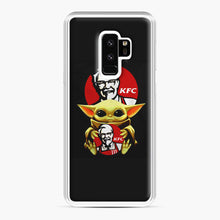 Load image into Gallery viewer, baby yoda hug kfc Samsung Galaxy S9 Plus Case, White Plastic Case | Webluence.com