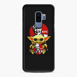 baby yoda hug kfc Samsung Galaxy S9 Plus Case, Black Rubber Case | Webluence.com