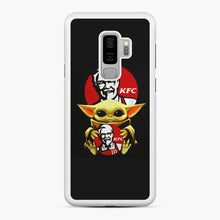 Load image into Gallery viewer, baby yoda hug kfc Samsung Galaxy S9 Plus Case, White Rubber Case | Webluence.com