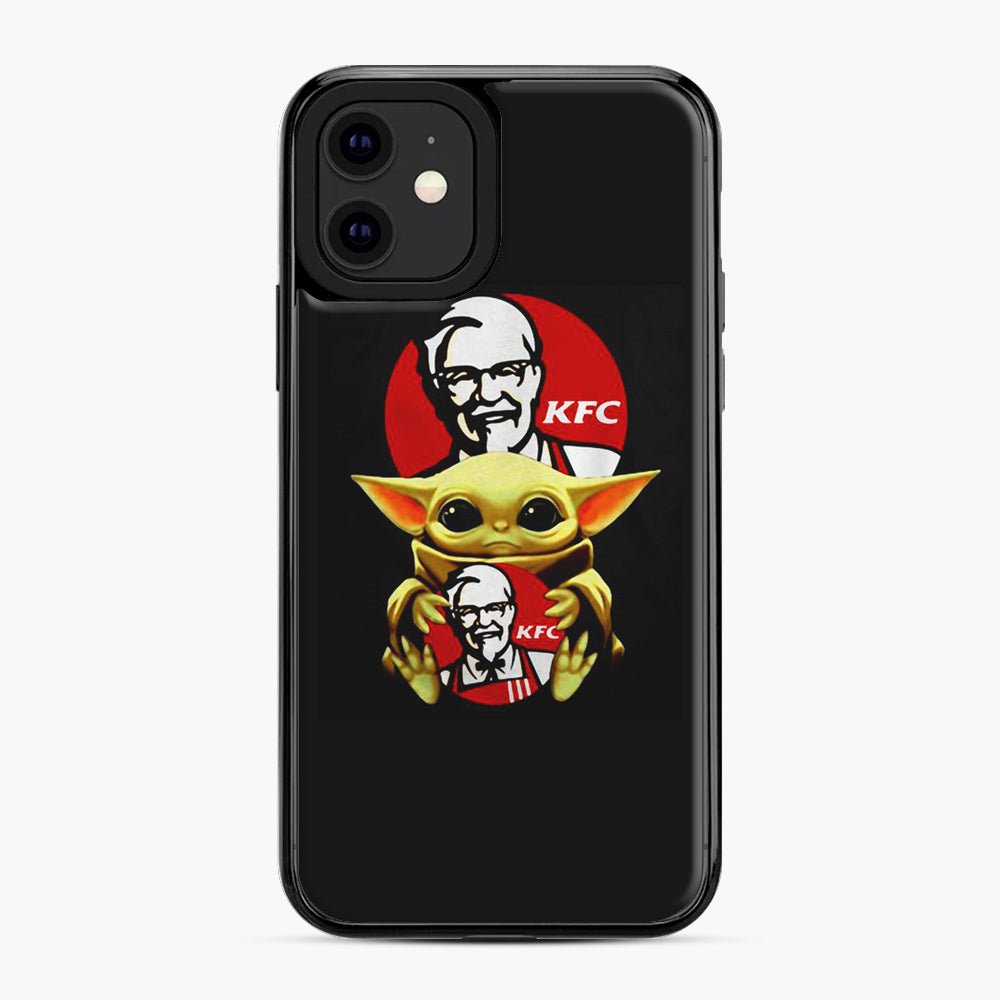 baby yoda hug kfc iPhone 11 Case, Black Plastic Case | Webluence.com