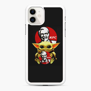 baby yoda hug kfc iPhone 11 Case, White Rubber Case | Webluence.com