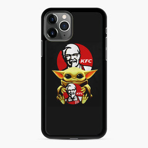 baby yoda hug kfc iPhone 11 Pro Case, Black Rubber Case | Webluence.com
