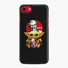 Load image into Gallery viewer, baby yoda hug kfc iPhone 7/8 Case, Black Plastic Case | Webluence.com