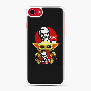 baby yoda hug kfc iPhone 7/8 Case, White Plastic Case | Webluence.com