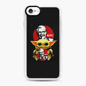 baby yoda hug kfc iPhone 7/8 Case, White Rubber Case | Webluence.com